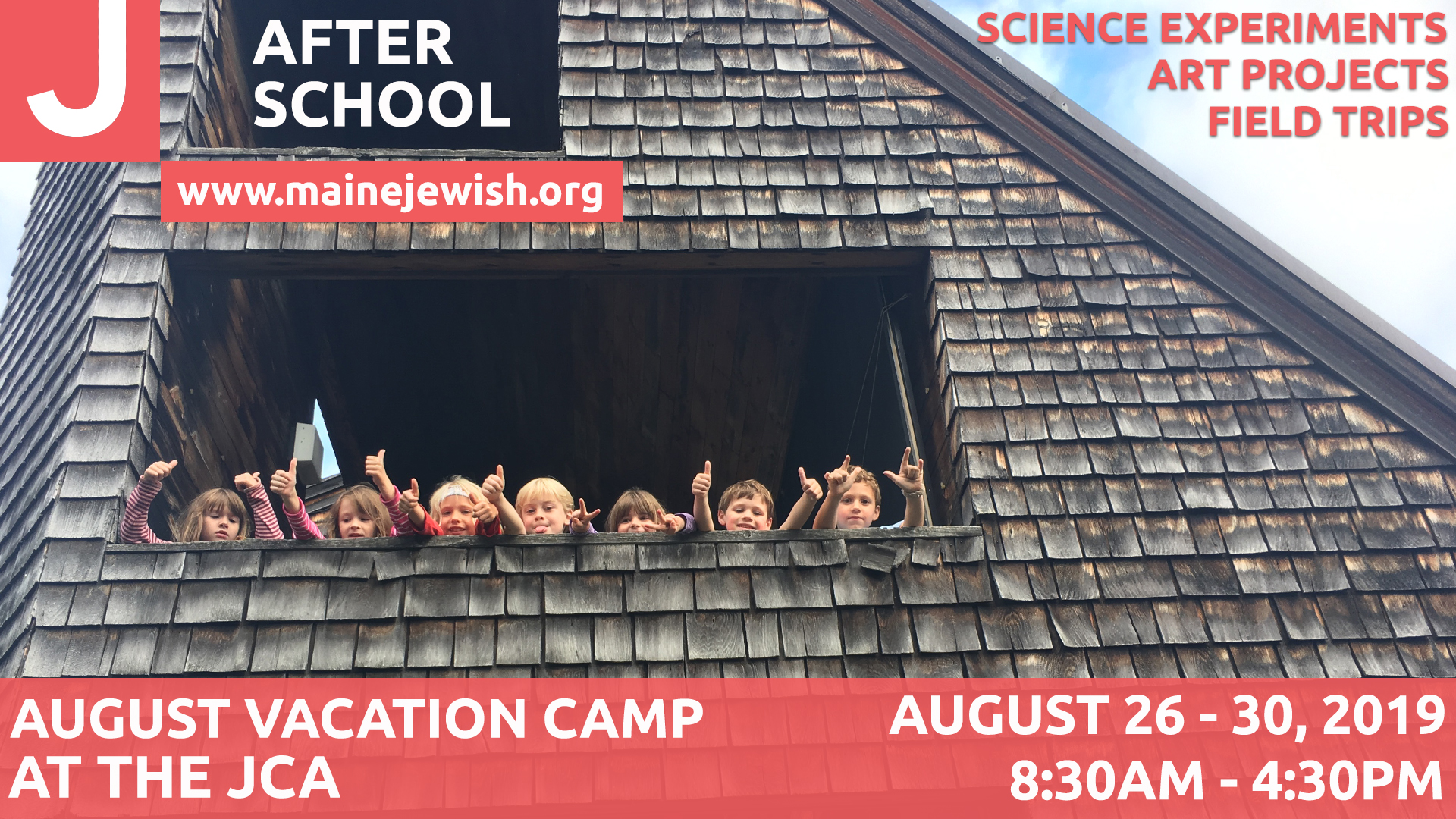 Afterschool August Vacation Camp PPT & FB