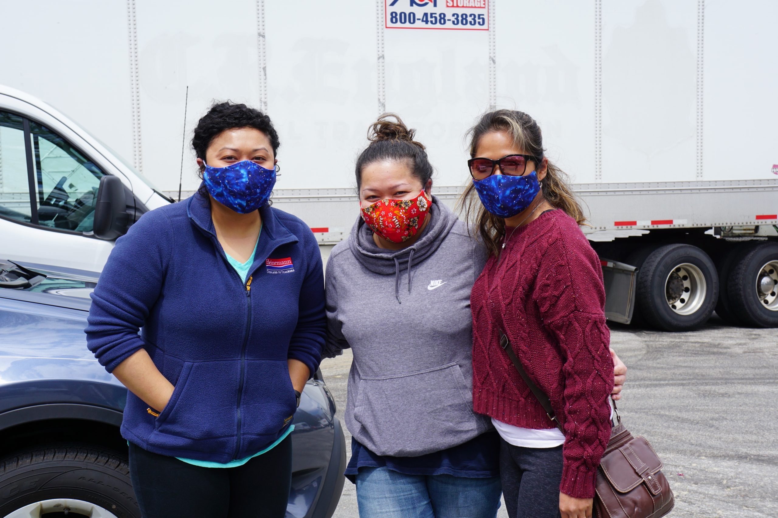 Cambodian Community of Maine Volunteers (in awesome matching masks!)