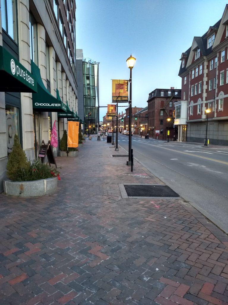 Empty Streets - Downtown Portland, 4PM January, 2021